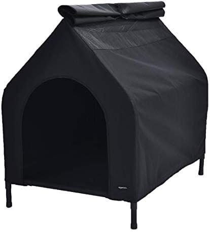 Amazon Basics Niche mobile surélevée pour animal domestique, Noir, TailleL