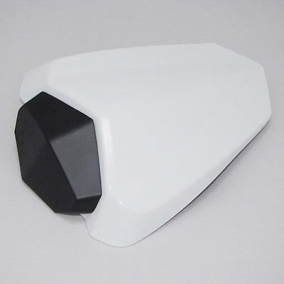 Motorcycle White Rear Passenger Pillion Seat Cowl Pad Hard ABS Motor Fairing Tail Cover for 2009-2014 Yamaha YZF 1000 R1 2010 2011 2012 2013 09-14 Raven Team Limited Edition World GP 50th Anniversary