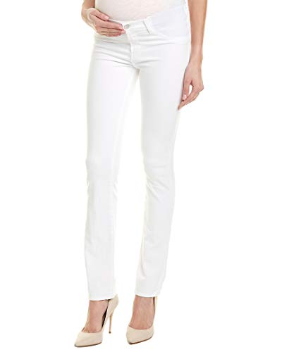 J Brand Women's 34112 Maternity Rail Jeans, Blanc, White, 30