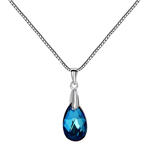 crystal teardrop pendant necklace - 8
