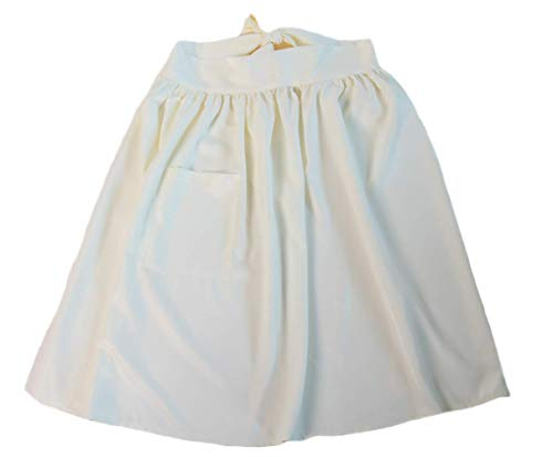 Making Believe Women's Large Colonial Peasant Cream Polyester Apron ()