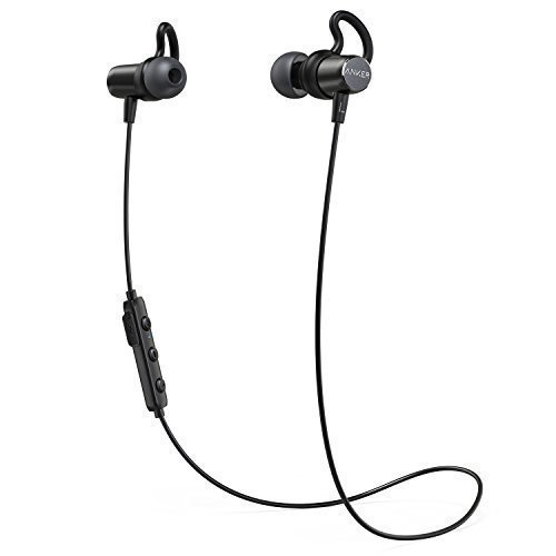 Anker Sound Surge Bluetooth Headphones Buds In Ear Magnetic Headphones with 6Hours Playing Time/Waterproof IPX4/MIC FOR IPHONE, IPAD, SAMSUNG, NEXUS, HTC and More