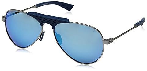 Under Armour Ua Getaway Aviator Sunglasses, Silver/ Blue, 58 mm (Scratch Golf Game Gear)