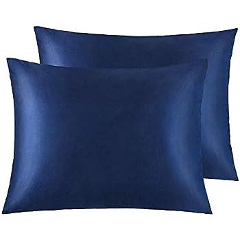 Amazon Com Cok Standard Pillow Cases Navy Blue 20x26