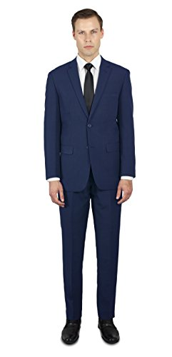 Alain Dupetit Men's Two Button Slim Regular Fit Suit for sale  Delivered anywhere in USA