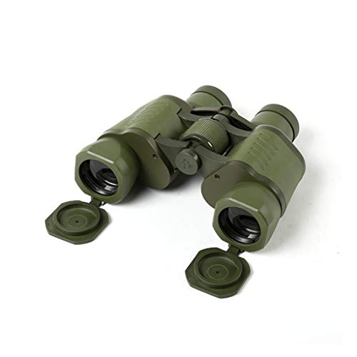 Binoculars Outdoor High Magnification 99 Type Nine Nine Telescope With Coordinates 50x50 Low Light Night Vision Double Tube Army Fan Observation Mirror Investigation Army Green 99 Telescope durable Bi ()