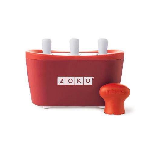 ZOKU Quick POP Maker RED Quick Pop? Maker Con 3 scomparti