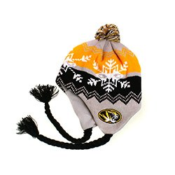NCAA Officially Licensesd University of Missouri Mizzou Tigers YOUTH Coldwave Pom Tassel Beanie (Visor Tigers Missouri)