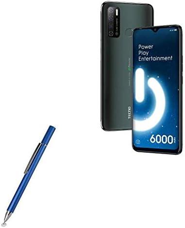 Lunar Blue Tecno Spark Power 2 Stylus Pen FineTouch Capacitive Stylus BoxWave Super Precise Stylus Pen for Tecno Spark Power 2