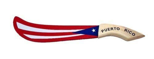 - Meditation Equipment Puerto Rico Flag Wood Machete (15