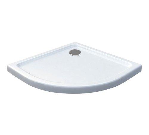 80 x 80 de ducha plato de superficie plana 50 mm cuadrante blanco