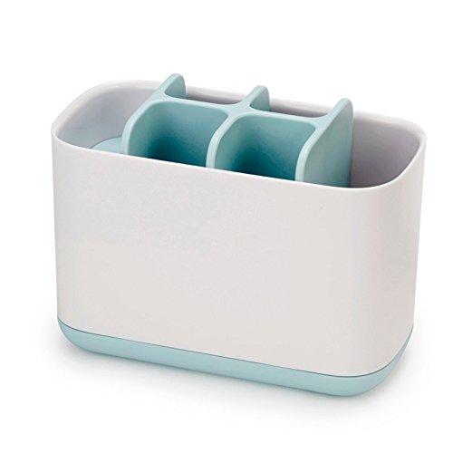 Joseph Joseph 70501 EasyStore Toothbrush Holder Bathroom Storage Organizer Caddy, Large, Blue