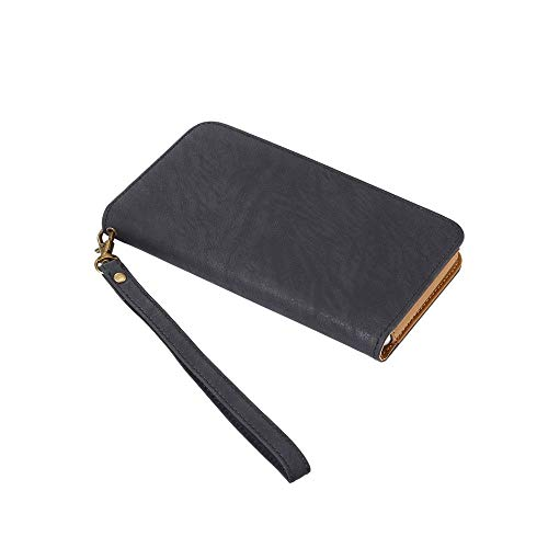 DFV mobile Bicolor Case Wallet with Card Holder and Magnetic Closure for => KARBONN Titanium Jumbo 2 (2018) > Black]()