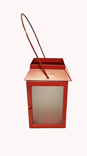 - ShoppeShare Miniature Red Tealight Lantern Home Decor and Candles Bundle - Retired PartyLite