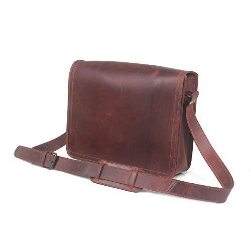 Leather Castle Genuine Leather Messenger Bag/Shoulder Bag/ 15.6 Inch Laptop Crossbody Bag/ (Brown2) [並行輸入品]   B07K9JSWHQ