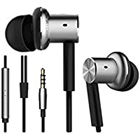 Xiaomi QTER01JY Original MI Piston Iron Hybrid Earphone Headphone Headset Earbud In-Ear Remote & Mic, Silver