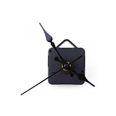 zhENfu Clock Movement Mechanism with Black Hour Minute Second Hand DIY Tools Kit Wall Clock