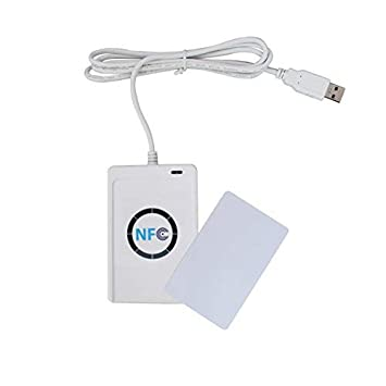 13.56Mhz IC Card RFID Card Reader IC//ID Card Non-contact USB Drive-free NFC Door Access Card Reader Can Connect Computer and Mobile Phone