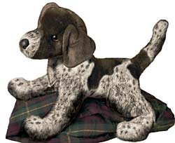 Check expert advices for pointer dog stuffed animal?