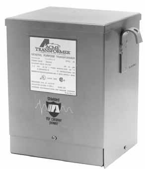 Acme Electric T2535163S Low Voltage Distribution Transformer, Single Phase, 240 x 480 Primary Volts - 120/240 Secondary Volts, 10 kVA