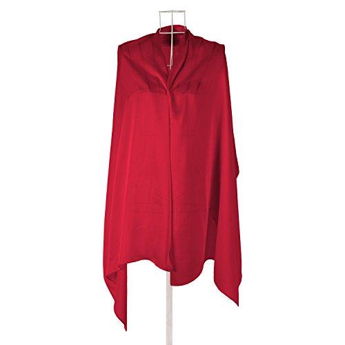 Zestilk 100% Silk Pashmina Shawls for Women Red by ZESTILK