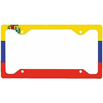 America Venezuela Country Steel Metal License Plate Frame