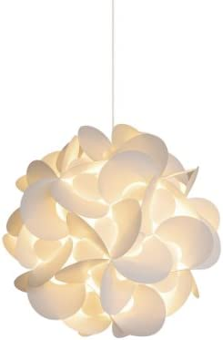 Akari Lanterns Small Rounds 12 Wide, Warm White Glow, Modern Unique Ceiling Hanging Light Fixtures Swag Plug in or Hardwire as Pendant Lamp Shade – Spiral Bulb Included, Easy to Install