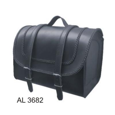 free shipping Durable PVC Motorcycle Travel/Luggage Bag W/Braid Trim (14x9x10)