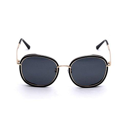 personalidad conducción para solar de Protección aire ultravioleta ocasionales Negro al de mujer Nueva Protección libre de sol UV400 sol estrella gafas opcional polarizadas Regalo gafas Retro Excursionista 6IRgqg