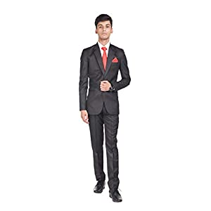 Gold Stitch Textured Two Piece Men's Suit