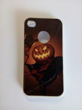 Cover Custodia Case Silicone Gomma Tpu Per Iphone 4 4S Halloween Zucca Notte