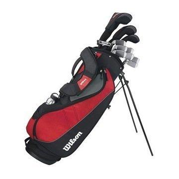 WILSON Herren Golf Komplettset Linkshand - Holz 3,hybrid 4, Eisen 5-9, Sw, Pw, PROFILE VF1,3,4,5-S,P,B, Mehrfarbig, LH (Linke Hand), Regular (R), 1.0, WGG157240
