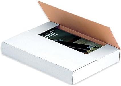 Envío de correos de fácil plegado, 12 1/8 x 9 1/8 x 2 blanco – 50 cada paquete [precio es por paquete]: Amazon.es: Oficina y papelería