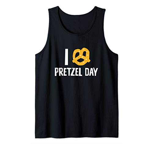I Love Pretzel Day Wacky Holiday Tank Top