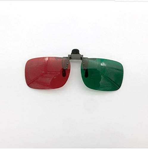 Kangwell Colorblind Color Weak Correction Glasses,Visual Function Ttraining Device,Suitable for Color Vision Disorders Or Red-Green Blindness (Clip)