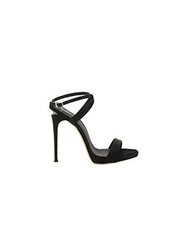 Giuseppe Zanotti Design Femme E70162001 Noir Satin Sandales MEse66