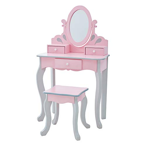 Teamson Kids Little Princess Rapunzel Kids Vanity Set With