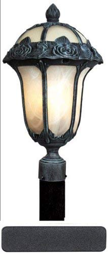 Special Lite Rose Garden Post Mount Light with Alabaster -