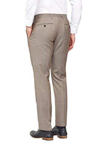 next Homme Costume en laine italienne: Pantalon Taupe 40 / Regular - Slim Fit