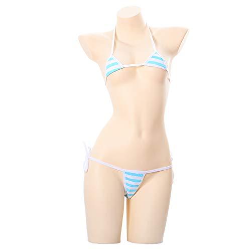 TOMORI Japanese Style Cute&Sexy Stripe Bikini Cosplay (Mini -