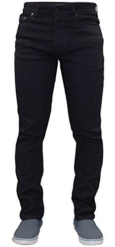 G72 Hombres Denim Super Stretch Skinny Slim FIT Jeans Todos LOS TAMAÑOS DE Cintura Y PIERNAS Negro