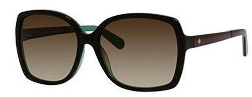 Kate Spade Women's Darilynn Square Sunglasses, Brown Horn Jade & Brown Gradient, 58 - 2015 Sunglasses Designer
