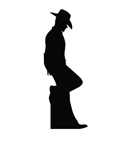 Cowboy Leaning Silhouette - Advanced Graphics Life Size Cardboard (Silhouette Of Cowboy)