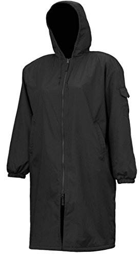 Adoretex Solid Swim Parka(PK005) - Black Lining - Black - Adult - Large