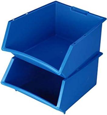 Denox 21570.415 - Caja de almacenaje (tamaño L, Polipropileno), Color Azul: Amazon.es: Hogar