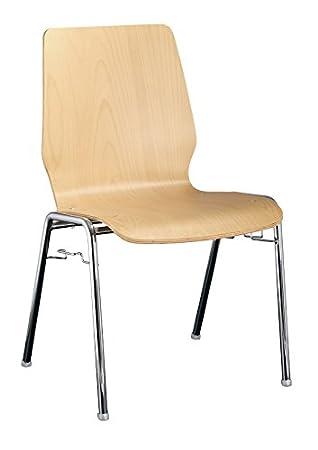 4x Besucherstuhl Stuhl Stühle Konferenzstuhl Büromöbel stapelbar ...