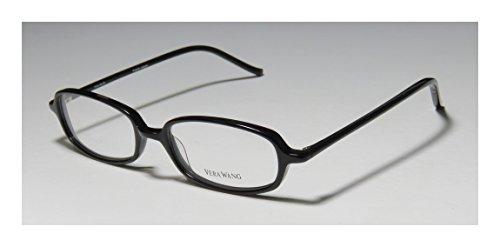 Vera Wang V14 Womens/Ladies Vision Care Prestigious Designer Designer Full-rim Eyeglasses/Eyewear (47-17-133, Black)