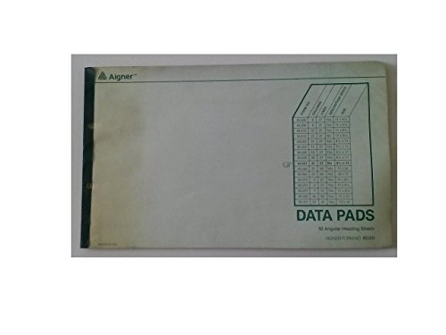 Aigner 65-231 Data Pads 50 Angular Heading Sheets 31 Columns 27 Lines No Description Space 8 1/2'' x 14'' Limit 1 Per Customer by Aigner