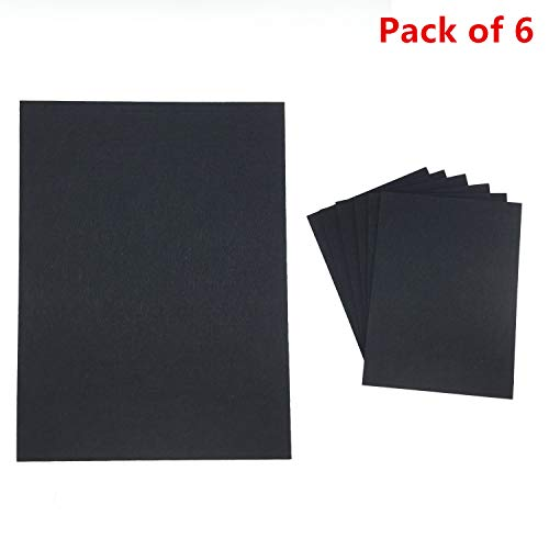 TroyStudio Acoustic Panel - Soundproof & Sound Absorbing Panel - Super Dense Polyester Fiber - Multiple Colors - 16'' X 12'' X 3/8'' PACK of 6 (Black)