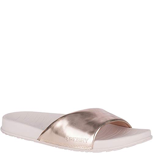 Sperry Top-Sider Shell Slide Sandal Women 12 Rose Gold